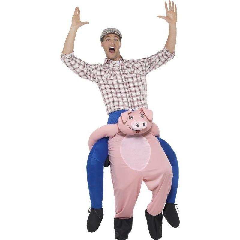 Carnaval Instap dierenpak kostuum varken voor volwassenen