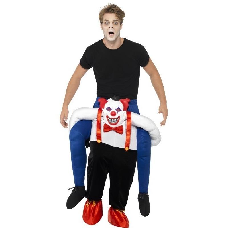 Carnaval Instapkostuum enge horror clown voor volwassenen