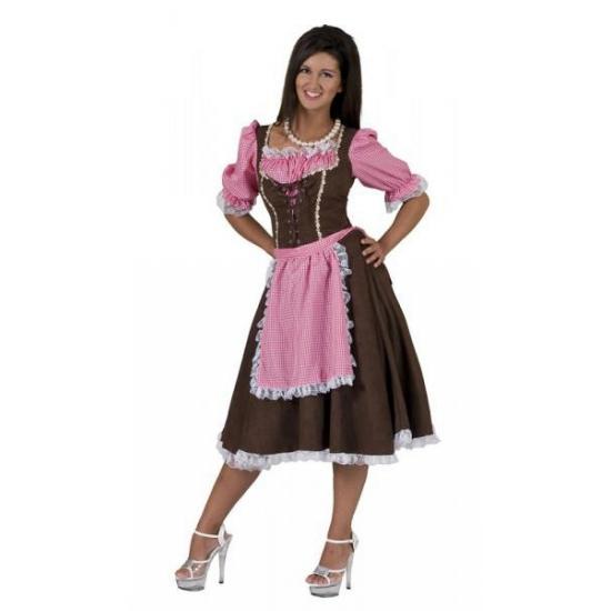 Carnaval Klassieke Tirolerjurk Rosa