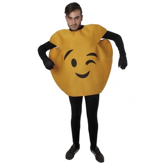 Carnaval Knipoog emoticon kostuum voor volwassenen