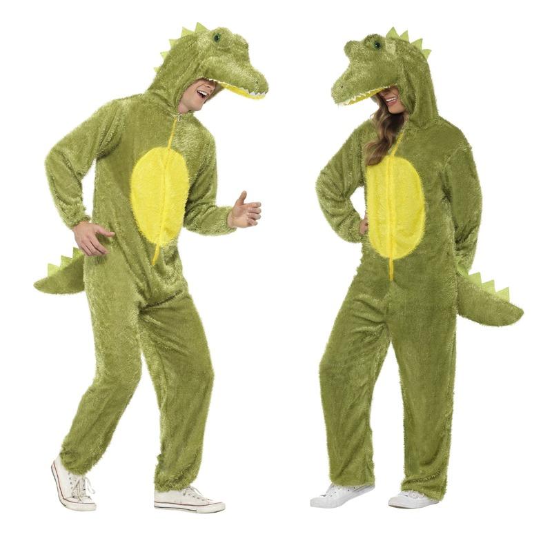 Carnaval Krokodil onesie kostuum voor volwassenen