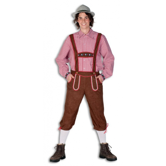 Carnaval Lange lederhose broek