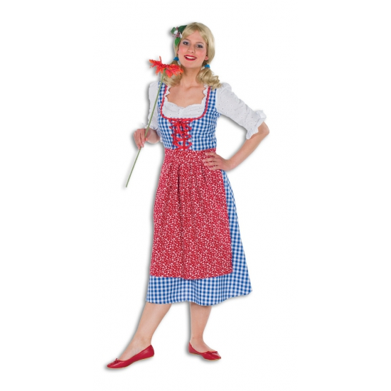 Carnaval Lange tiroler jurk voor dames