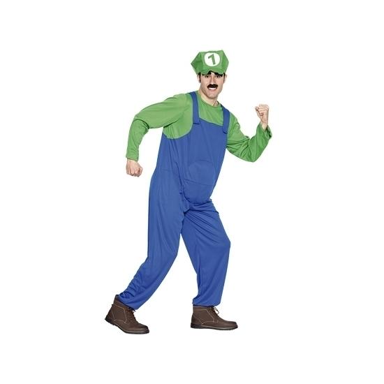 Carnaval Loodgieter kostuum groen voor heren