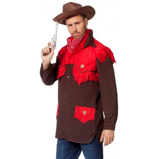 Carnaval Luxe cowboy verkleed shirt voor heren