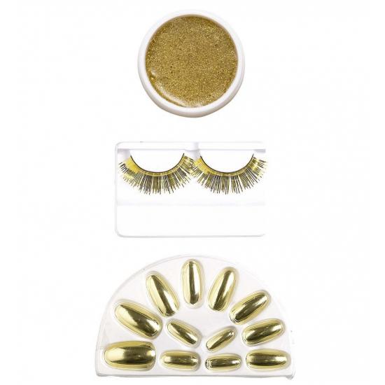 Carnaval Make-up set goud