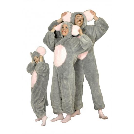 Carnaval muis kostuum grijs