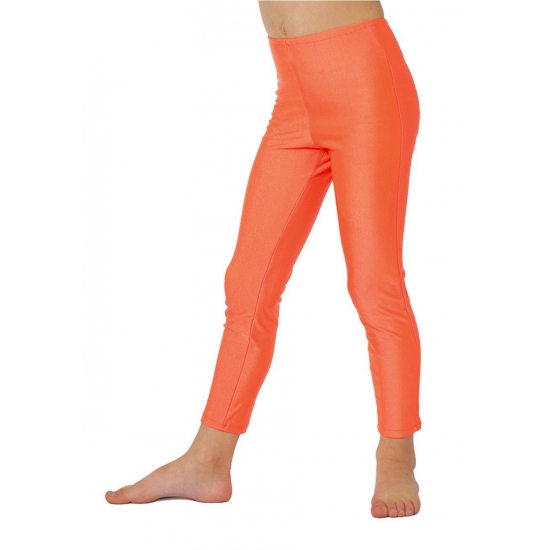 Soorten kostuums Carnavalskostuum winkel Carnaval Neon oranje kinder legging
