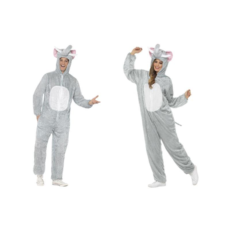 Carnaval Olifant onesie kostuum voor volwassenen