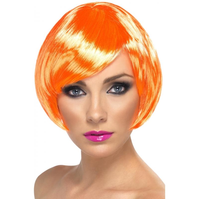 Carnaval Oranje Damespruik Kort Haar