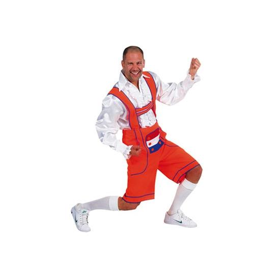 Carnaval Oranje Tiroler broek