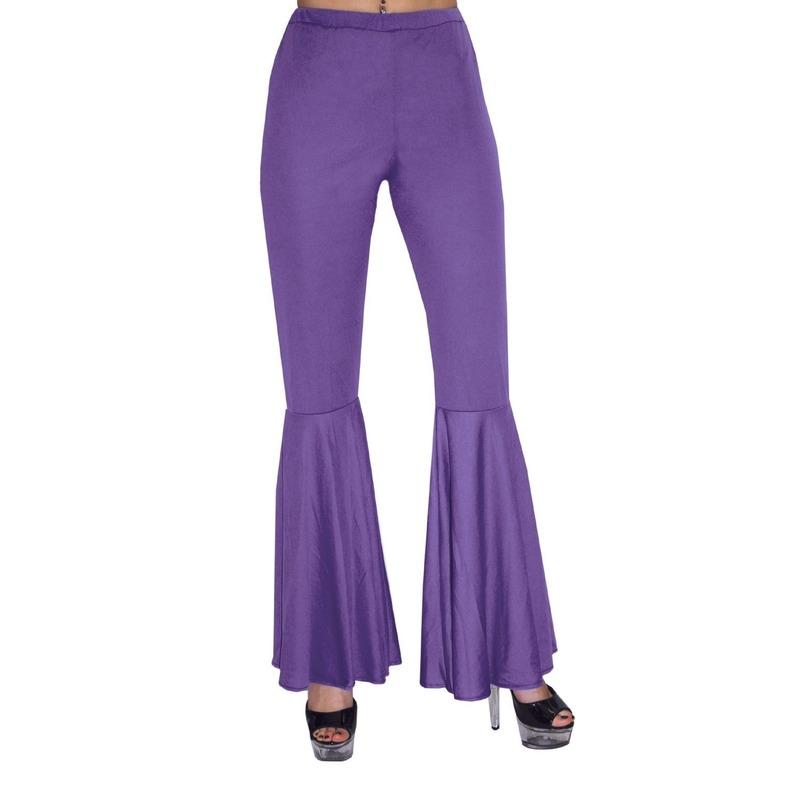 Carnaval paarse hippie broek voor kinderen