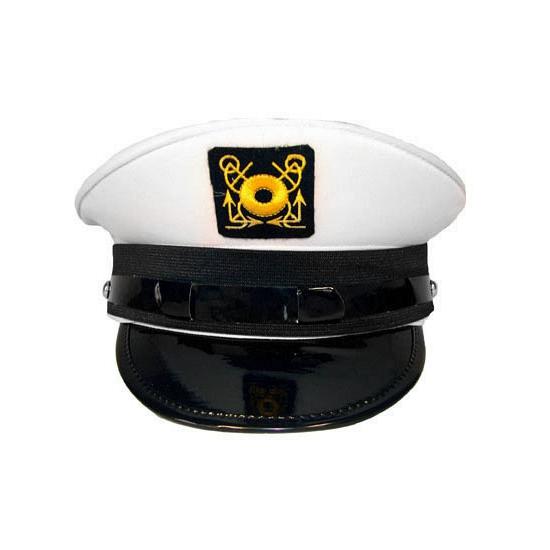 Feest hoeden Carnaval pet kapitein wit