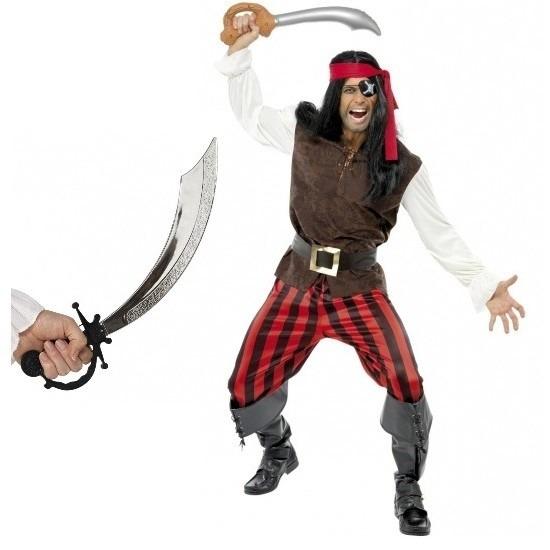 Carnaval Piraten kostuum met zwaard maat M voor volwassenen