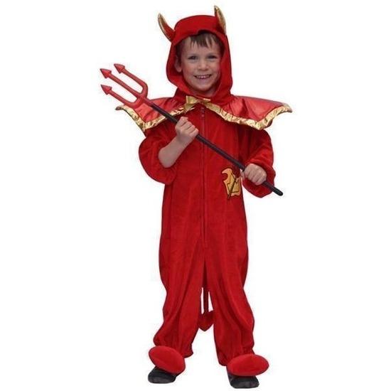 Carnaval Pluche duivel kostuum voor kinderen