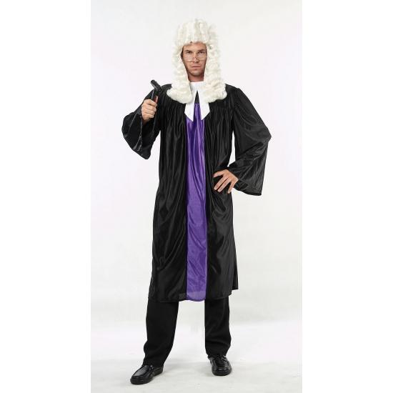 Carnaval Rechter toga zwart en paars