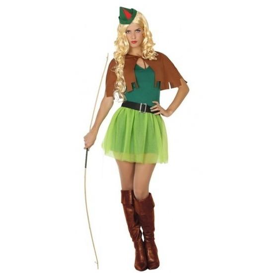 Carnaval Robin Hood kostuum 4-delig voor dames
