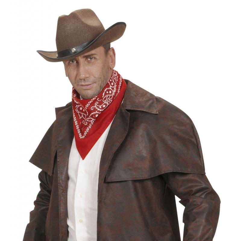 Verkleedaccessoires Carnavalskostuum winkel Carnaval rode cowboy bandana zakdoek