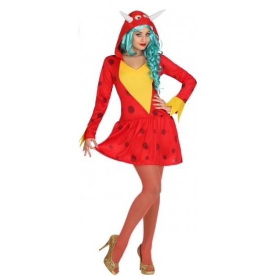 Carnaval Rode draak kostuum voor dames