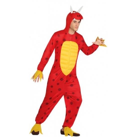 Carnaval Rode draak kostuum voor heren