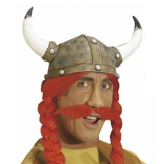 Carnaval Rode Viking Snor