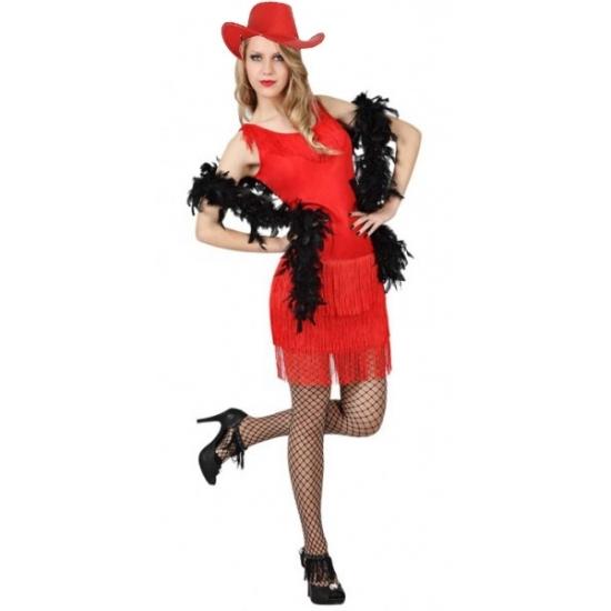 Carnaval Rood feestjurkje voor dames