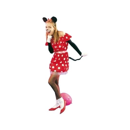 Carnaval Rood muisje kostuum voor dames
