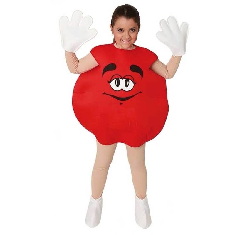 Carnaval Rood snoep kostuum voor kinderen