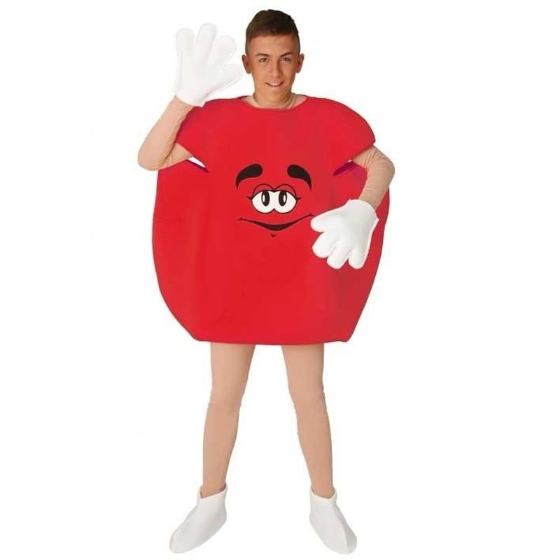 Carnaval Rood snoep kostuum