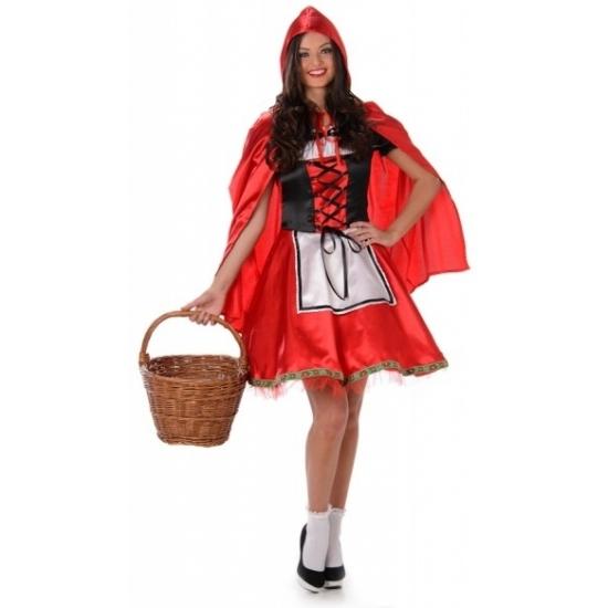 Carnaval Roodkapje kostuum met cape
