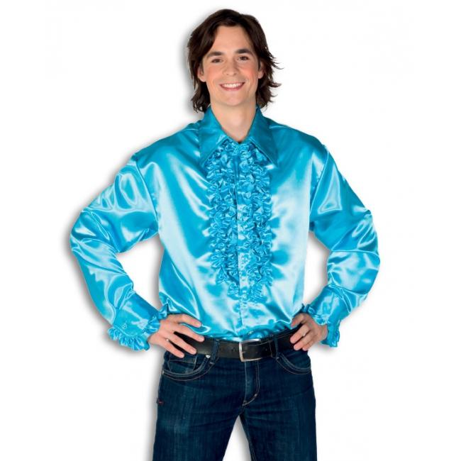 Carnaval Rouche overhemd heren turquoise Geen Kopen