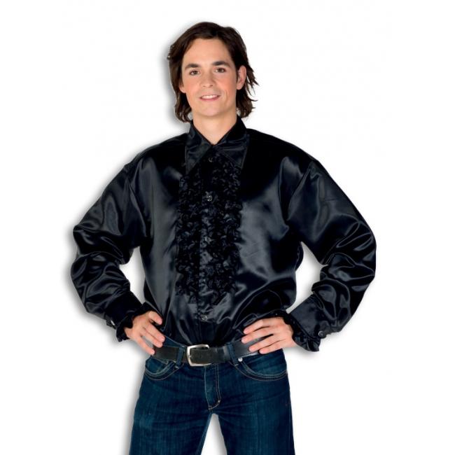 Geen Carnaval rouche overhemd voor heren zwart Soorten kostuums
