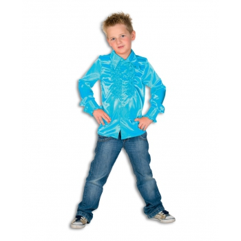 Carnaval Rouches blouse blauw voor kids