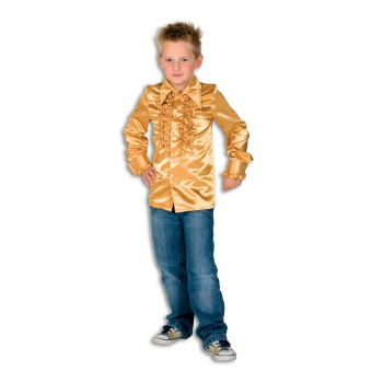 Carnaval Rouches blouse goud voor kids