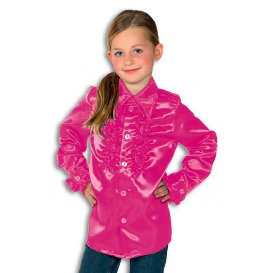 Geen Carnaval Rouches blouse roze voor kids Soorten kostuums