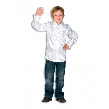 Carnaval Rouches blouse wit voor kids