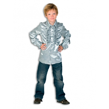 Carnaval Rouches blouse zilver voor kids