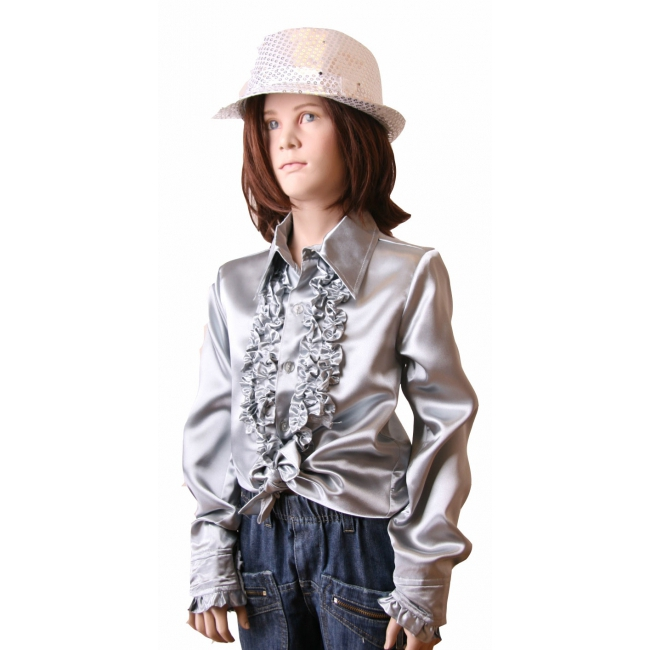 Carnaval Rouches blouse zilver voor meisjes