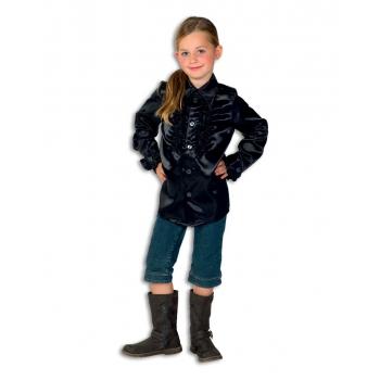 Carnaval Rouches blouse zwart voor kids