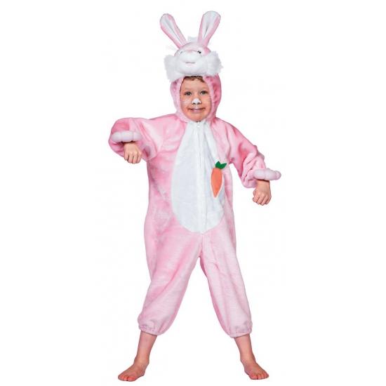 Carnaval Roze konijnen pak voor kinderen