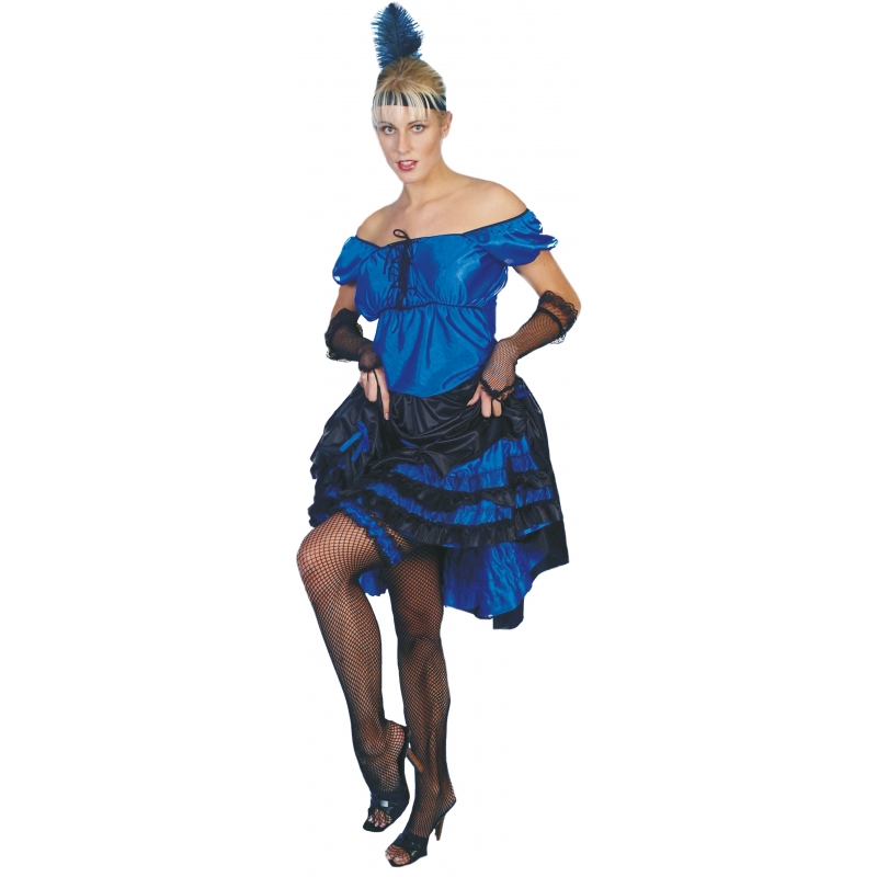 Carnaval Salsa jurk blauw
