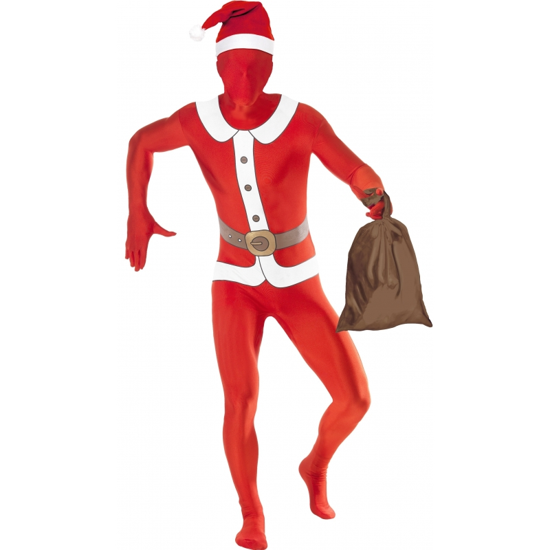 Carnaval Second skin pak kerstman