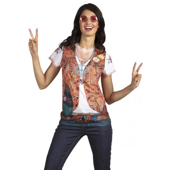 Soorten kostuums Carnaval shirt met hippie print