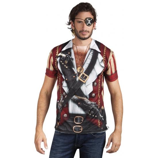 Carnaval shirt met piraten print Carnavalskostuum winkel goedkoop online kopen