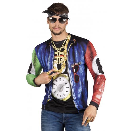 Soorten kostuums Carnavalskostuum winkel Carnaval shirt met rapper print