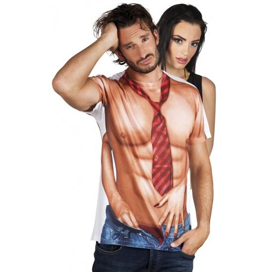 Soorten kostuums Carnaval shirt met sexy man print