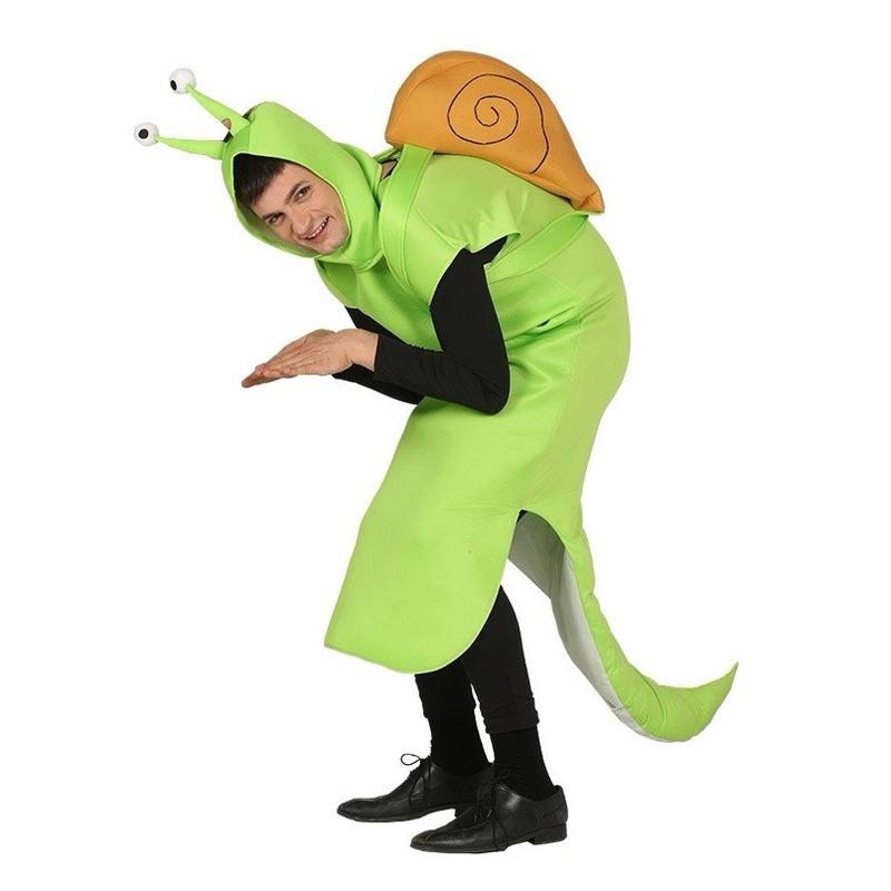 Carnaval Slak kostuum groen voor volwassenen