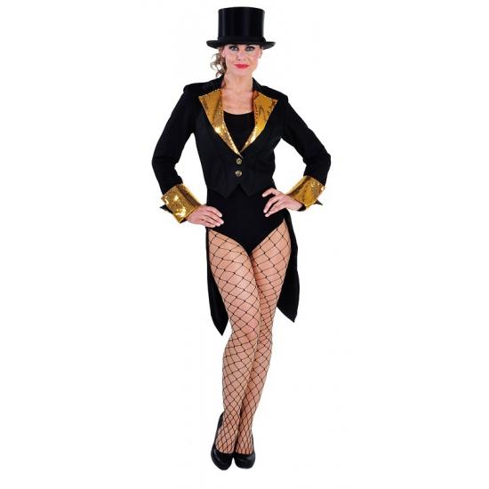 Carnaval Slipjas voor dames zwart/goud