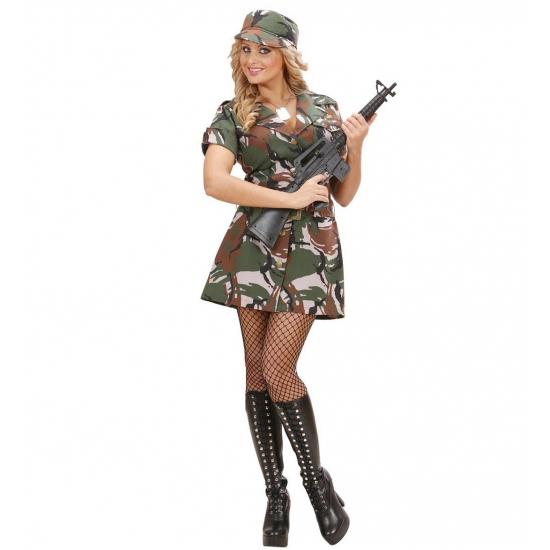 Carnaval Soldaten jurkje dames