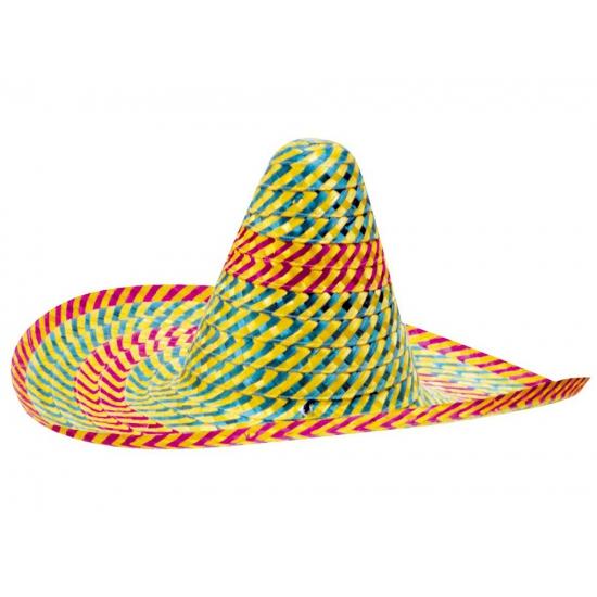 Carnaval sombrero in diverse kleuren 50 cm Carnavalskostuum winkel Feest hoeden